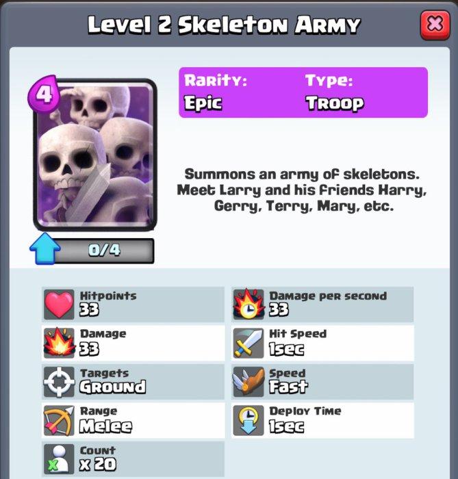 Tattiche per Clash Royale: 5 regole per vincere! Royale skeletons