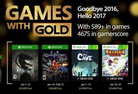 Games with Gold di Gennaio 2017 disponibili da oggi